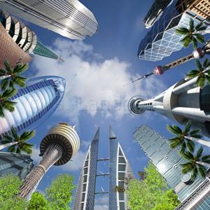 Deckenbild Die höchsten Türme der Welt